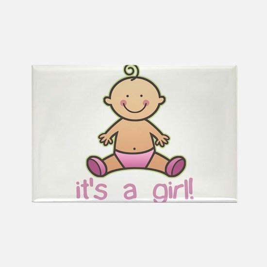 New Baby Girl Cartoon Rectangle Magnet