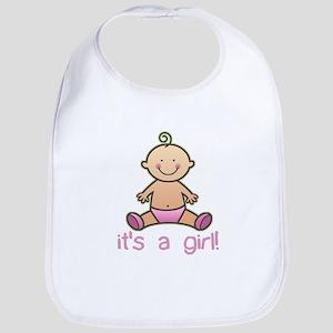 New Baby Girl Cartoon Bib