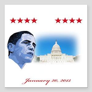 "57th Presidential inaugu Square Car Magnet 3"" x 3"""