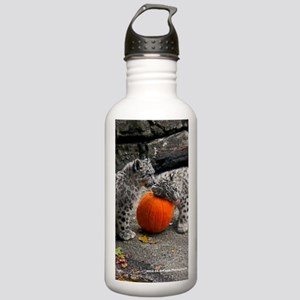 Snow Leopards and Pump Stainless Water Bottle 1.0L