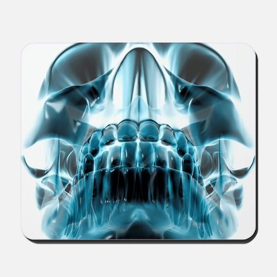 Human skull, computer artwork Mousepad