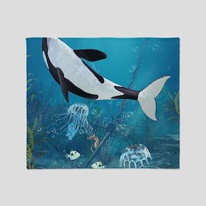 orca2_60_curtains_834_H_F Throw Blanket