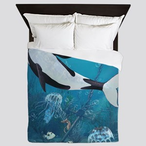 orca2_60_curtains_834_H_F Queen Duvet