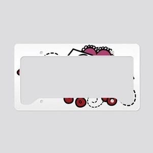 Love Letters In Wagon License Plate Holder