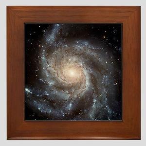 Spiral Galaxy Framed Tile