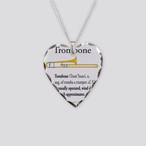 Trombone - Pitch Approxomator Necklace Heart Charm