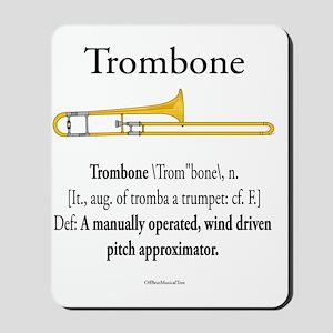 Trombone - Pitch Approxomator Mousepad