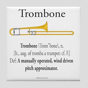 Trombone - Pitch Approxomator Tile Coaster