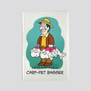 Carp-pet Bagger Rectangle Magnet