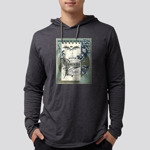 Silver Domestic Sewing Machine Long Sleeve T-Shirt