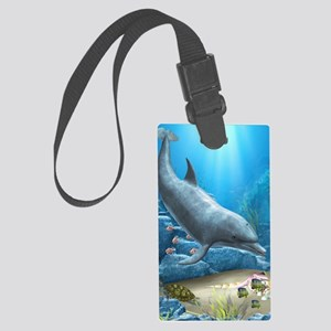 twotd_5_7_area_rug_833_H_F Large Luggage Tag