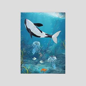 orca2_84_curtains_835_H_F 5'x7'Area Rug