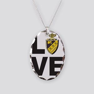 Phi Sigma Pi Love Necklace Oval Charm