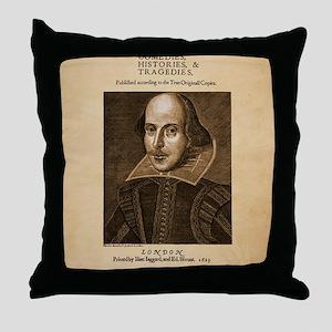 first_folio-16x20-ipad2 Throw Pillow