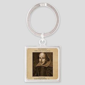 first_folio-16x20-ipad2 Square Keychain