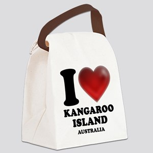 I Heart Kangaroo Island, Australi Canvas Lunch Bag
