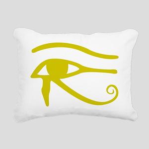 Yellow Eye of Horus Eye  Rectangular Canvas Pillow