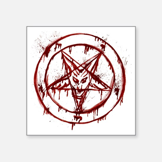 "Bloody Baphomet Square Sticker 3"" x 3"""