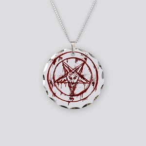 Bloody Baphomet Necklace Circle Charm