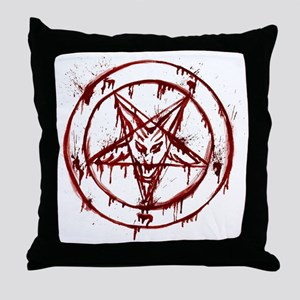 Bloody Baphomet Throw Pillow