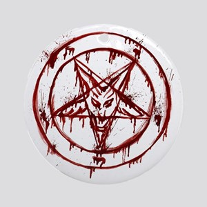 Bloody Baphomet Round Ornament
