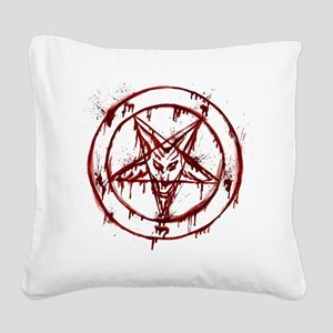 Bloody Baphomet Square Canvas Pillow