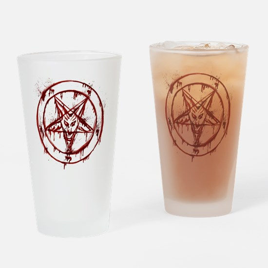 Bloody Baphomet Drinking Glass