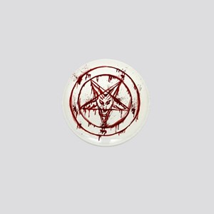 Bloody Baphomet Mini Button