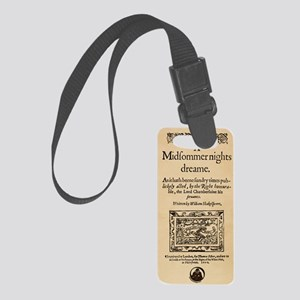 midsummer_16x20-iphonewallet Small Luggage Tag