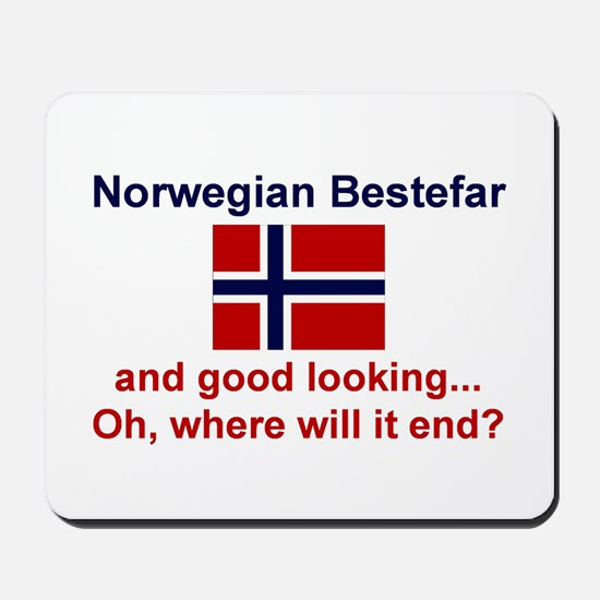 Gd Lkg Norwegian Bestefar Mousepad