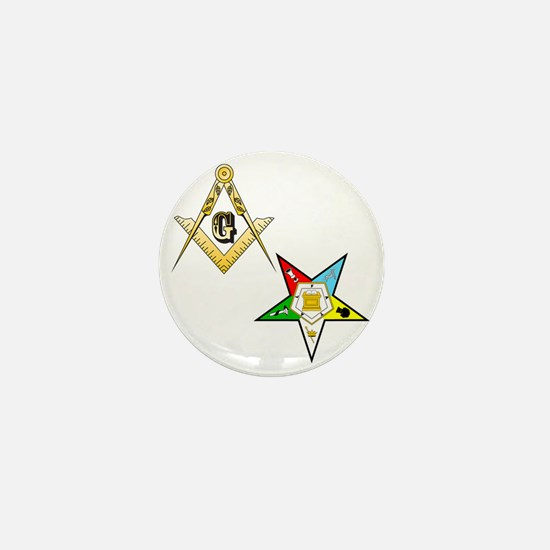 Masonic - Eastern Star glass Mini Button