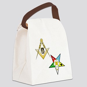 Masonic - Eastern Star glass Canvas Lunch Bag