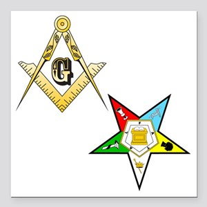 "Masonic - Eastern Star g Square Car Magnet 3"" x 3"""