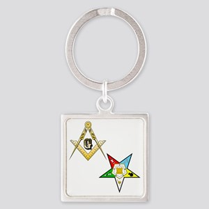 Masonic - Eastern Star glass Square Keychain