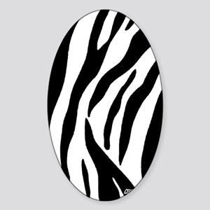 Zebra Adressbuch Sticker (Oval)