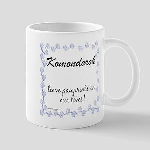 Komondor Pawprint Mug