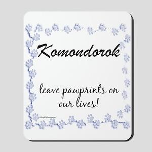 Komondor Pawprint Mousepad