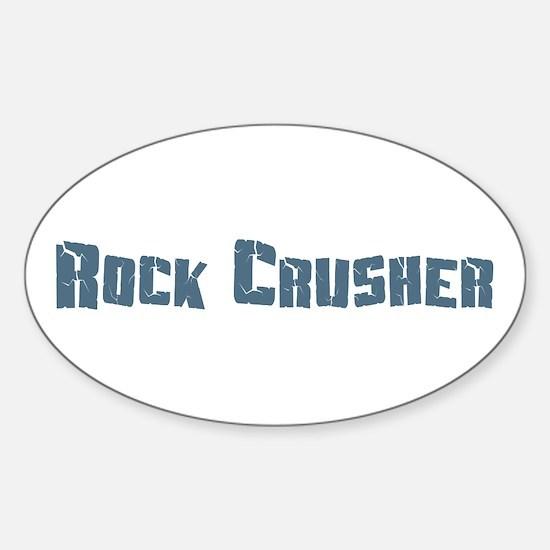 Rock Crusher Oval Decal