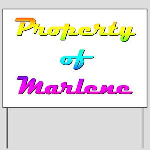 Property Of Marlene Female Yard Sign