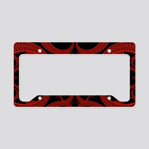 Red and Black Goth Fractal Ar License Plate Holder