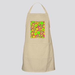 Yellow and Green Hippie Flower Pattern Apron
