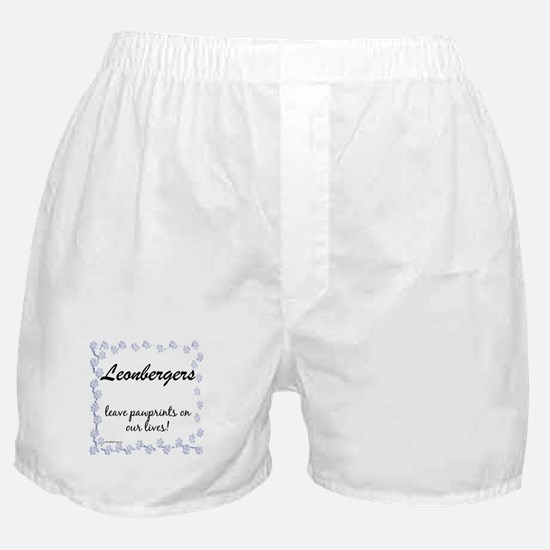 Leonberger Pawprint Boxer Shorts