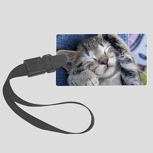 Sleeping Kitten Large Luggage Tag