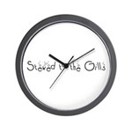 Stewed to the Gills Wall Clock
