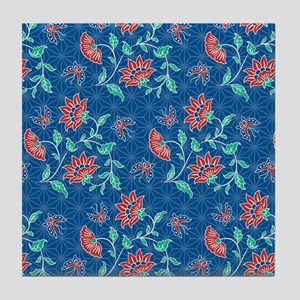 duvet king aiyana blue Tile Coaster