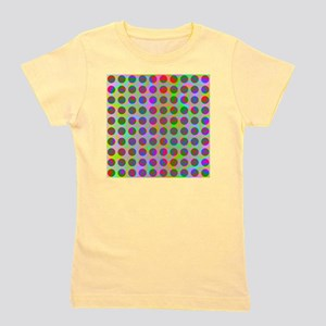 Psychedelic Rainbow Spots Pattern Girl's Tee