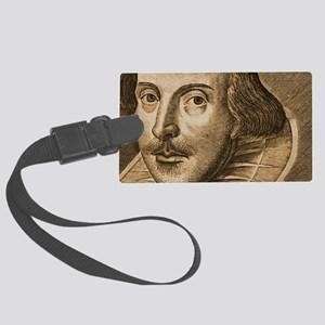 Droeshouts Shakespeare Large Luggage Tag