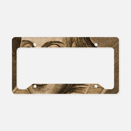 Droeshouts Shakespeare License Plate Holder