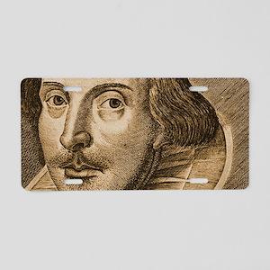 Droeshouts Shakespeare Aluminum License Plate