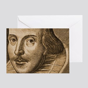 Droeshouts Shakespeare Greeting Card